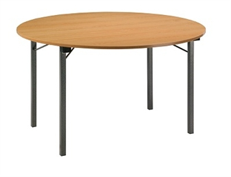 Folding Circular U-Table - Beech Top