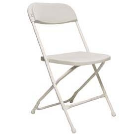 Fold Flat Chair - White With White Frame