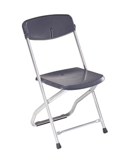 Blitz Folding Plastic Chair - Blue