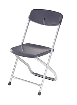 Blitz Folding Plastic Chair - Anthracite