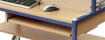 Optional Pull-Out Keyboard Shelf