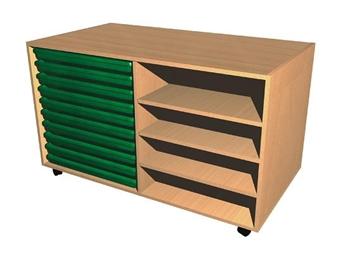 10 Art Tray + Shelves Unit