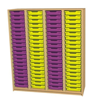 6ft High Open Tray Unit - 80 Trays