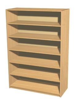 Economy Bookcase - 6 Shelves