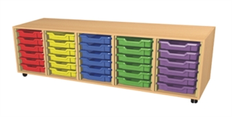 5 Bay Tray Storage Unit - 30 Trays