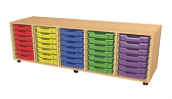 5 Bay Tray Storage Unit - 35 Trays