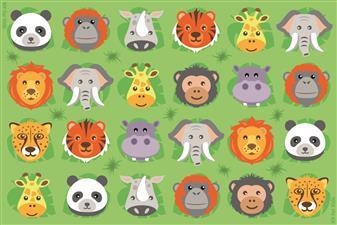 Zoo Animal Corner Placement Carpet