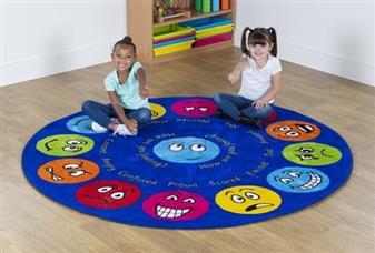 Emotions Circular Placement Carpet
