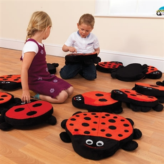 Ladybird Counting Cushions