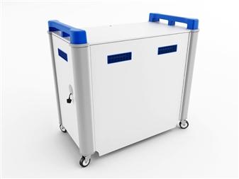 32 Port Laptop Recharging Storage Trolley - Horizontal Storage - Back Closed