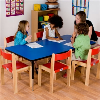 Height-Adjustable Rectangular Table - Blue