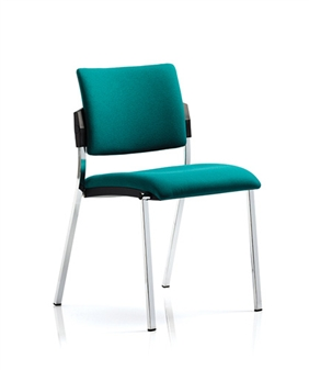 Viscount Stacking Chair - Vinyl - Chrome Frame Without Arms