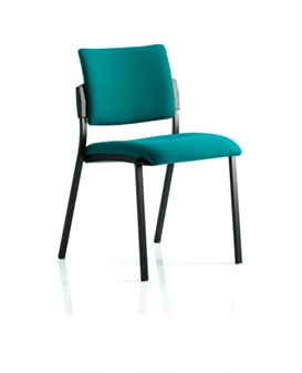 Viscount Stacking Chair - Vinyl - Black Frame Without Arms