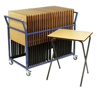 25 Folding Exam Tables + Trolley
