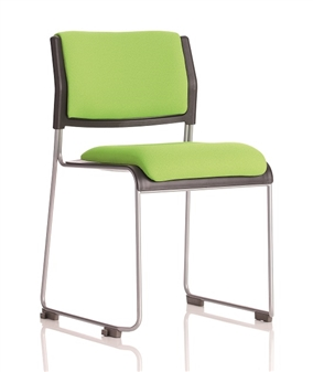 Twilight Stacking Chair With Upholstered Seat & Back