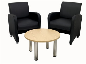 Bronx Reception Chair With Round Coffee Table