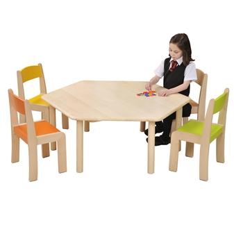 Beech Hexagonal Table