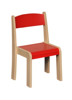 Beech Stacking Chair - Red