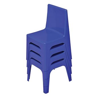 Kidz Plastic Chairs - Blue, Stacked