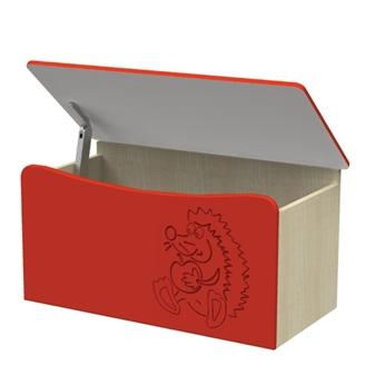Novo Wooden Toybox - Red