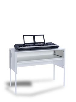 White Keyboard Desk White Frame