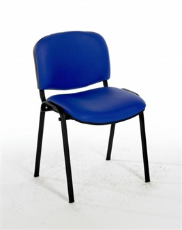 F1B Stacking Vinyl Chair With Black Frame