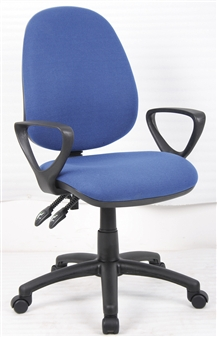 Value 2-Lever High Back Operator Chair + Fixed Loop Arms