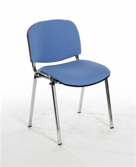 F1C Stacking Vinyl Chair With Chrome Frame
