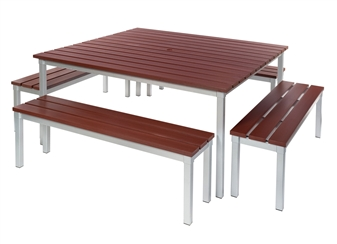 Enviro Outdoor Table + Benches