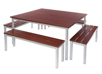 Enviro Outdoor Benches With Enviro Outdoor Table