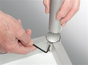 Table Legs Connect To Frame With Allen Key Fixing