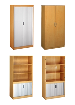 System Tambour Cupboards & Bookcases