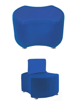 PK2 PACMAN 2 Bites Seat & PK2B PACMAN 2 Bites Seat + Backrest