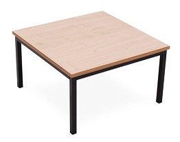 Beech Coffee Table With Black Frame