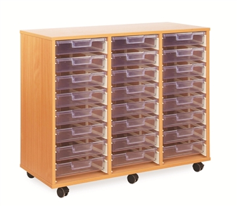 Crystal Clear Tray Storage - 24 Shallow Trays