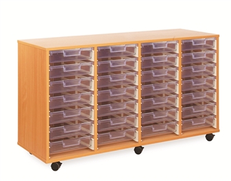 Crystal Clear Tray Storage - 28 Shallow Trays