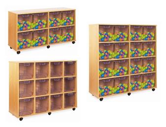 Crystal Clear Tray Storage - 8, 12 & 16 Extra-Deep Trays