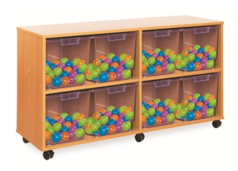 Crystal Clear Tray Storage - 8 Extra-Deep Trays