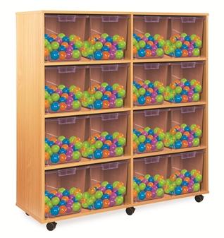 Crystal Clear Tray Storage - 16 Extra-Deep Trays
