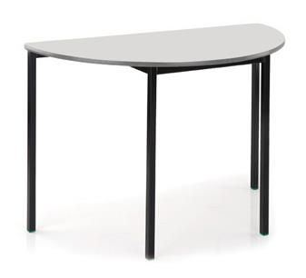 Semi-Circular Table with yellow top & MDF edge