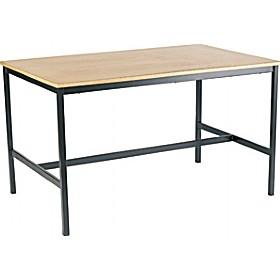 H-Frame Art Table, black frame & beech laminate top