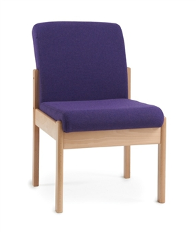 Meavy Wooden Reception Chair No Arms