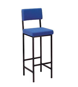 C1 High Stool With Back - Vinyl
