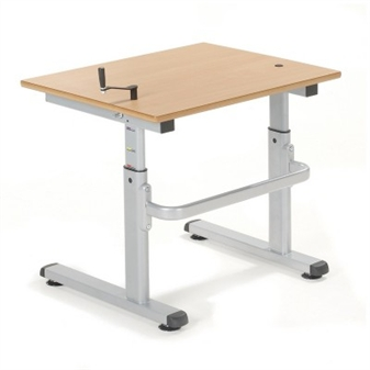 Single 700mm Height Adjustable Desk