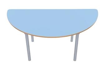 Semi Circular Table Powder Blue