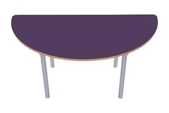 Semi Circular Table Plum