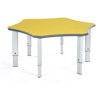 Flower Table Yellow Top Light Grey Speckled Frame