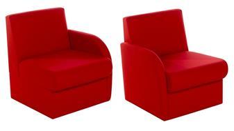 BRS/L Modular Box Reception Sofa Seat - Left Arm - Vinyl