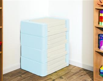 Snoozeland Folding Seat in Cream & Aqua