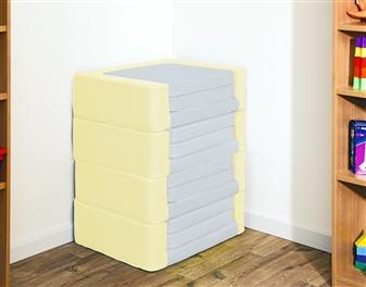 Snoozeland Folding Seat in Banana & Grey
